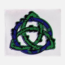 Abstract Triquetra Throw Blanket