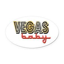 Vegas Baby Oval Car Magnet