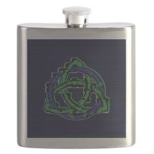 Abstract Triquetra Flask