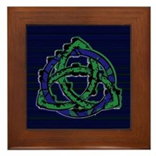 Abstract Triquetra Framed Tile