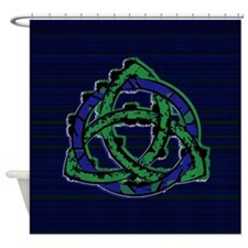 Abstract Triquetra Shower Curtain