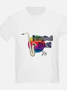Saxophone Rocks T-Shirt
