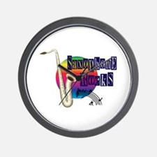 Saxophone Rocks Wall Clock