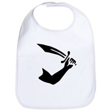 Thomas Tew Jolly Roger:Pirate Flag Black Bib