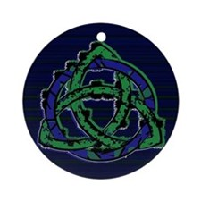 Abstract Triquetra Ornament (Round)