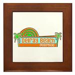 Delray Beach, Florida Framed Tile