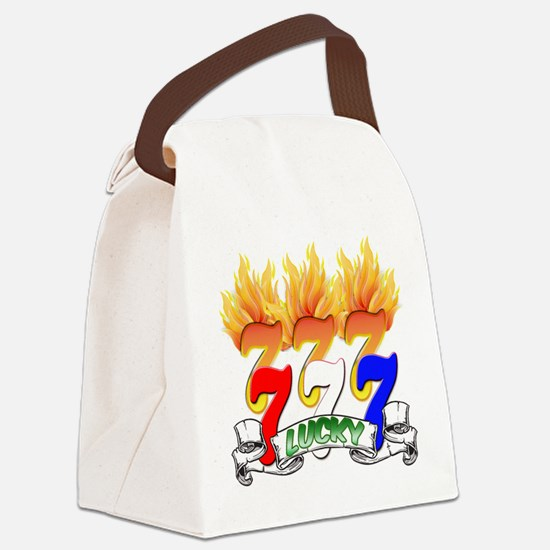 Lucky Sevens Canvas Lunch Bag