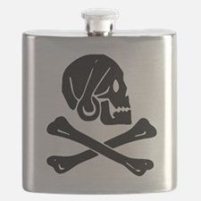 Henry Every Jolly Roger:Pirate Flag Black Flask