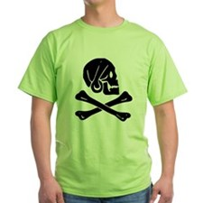 Henry Every Jolly Roger:Pirate Flag Black T-Shirt