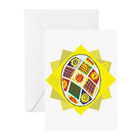 Patchwork Egg Greeting Cards (Pk of 10)