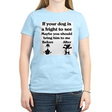 Pet Groomer Women's Pink T-Shirt