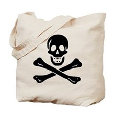 Black Sam Bellamy Jolly Roger:Pirate Flag B Tote B