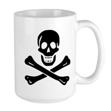 Black Sam Bellamy Jolly Roger:Pirate Flag B Mugs