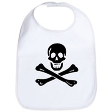 Black Sam Bellamy Jolly Roger:Pirate Flag B Bib