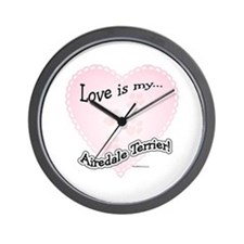 Love is my Airedale Terrier Wall Clock
