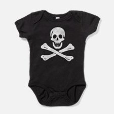Black Sam Bellamy Jolly Roger:Pirate Flag Baby Bod