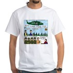 Helicopter - Tent - Drill Team White T-Shirt