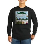 Helicopter - Tent - Drill Team Long Sleeve Dark T-