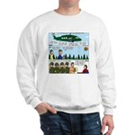 Helicopter - Tent - Drill Team Sweatshirt