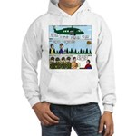 Helicopter - Tent - Drill Team Hooded Sweatshirt