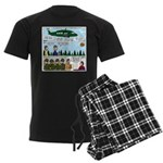 Helicopter - Tent - Drill Team Men's Dark Pajamas