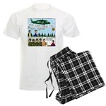 Helicopter - Tent - Drill Team Men's Light Pajamas