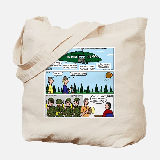 Helicopter - Tent - Drill Team Tote Bag