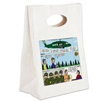 Helicopter - Tent - Drill Team Canvas Lunch Tote