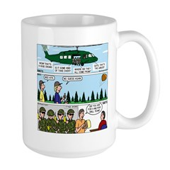 Helicopter - Tent - Drill Team Large Mug