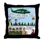Helicopter - Tent - Drill Team Throw Pillow