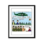 Helicopter - Tent - Drill Team Framed Panel Print