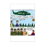 Helicopter - Tent - Drill Team Mini Poster Print