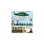 Helicopter - Tent - Drill Team 35x21 Wall Decal