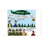 Helicopter - Tent - Drill Team Postcards (Package