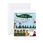 Helicopter - Tent - Drill Team Greeting Cards (Pk