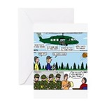 Helicopter - Tent - Drill Team Greeting Card