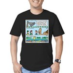 PA System - Camel - Fish Men's Fitted T-Shirt (dar