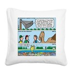 PA System - Camel - Fish Square Canvas Pillow