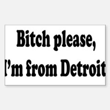 Im From Detroit Decal