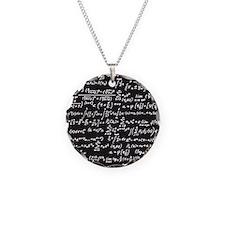 Chalk/Blackboard Necklace