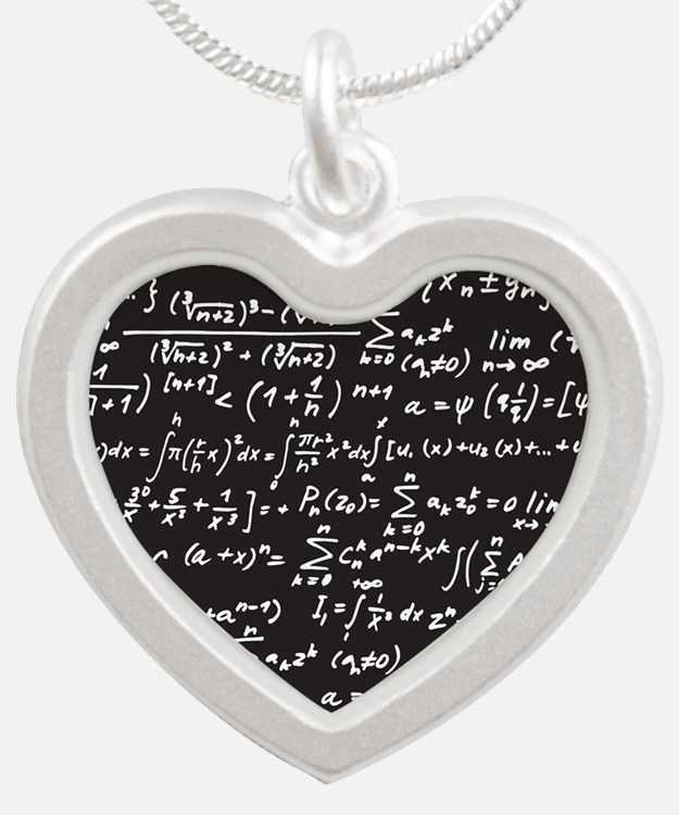 Chalk/Blackboard Silver Heart Necklace