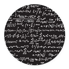 Chalk/Blackboard Round Car Magnet