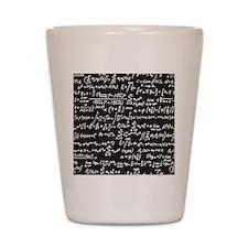 Chalk/Blackboard Shot Glass