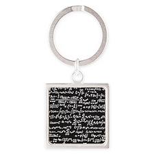 Chalk/Blackboard Square Keychain