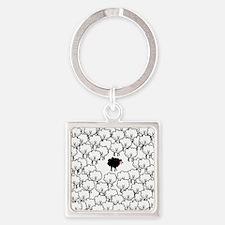 Black Sheep Square Keychain