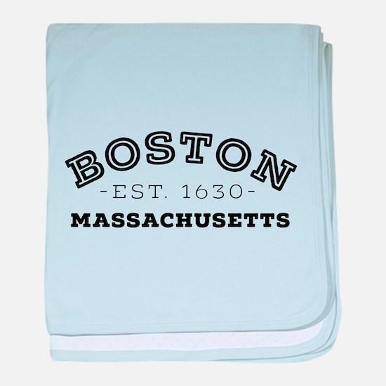 Boston Massachusetts baby blanket