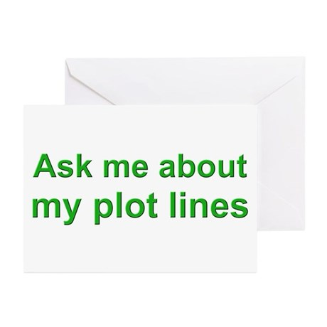 Writer's Plot Lines Greeting Cards (Pk of 10)