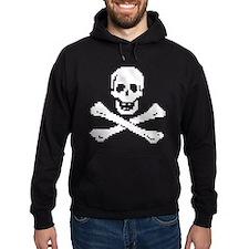 Pixel Skull White Hoody