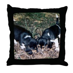 beagles Throw Pillow