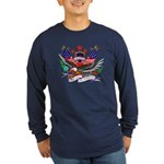 Remember Our Heroes (Front) Long Sleeve Dark T-Shi